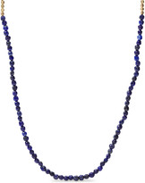 Fossil x Me to We Lapis Lazuli Beaded Necklace