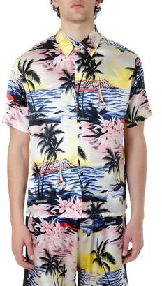Laneus Multicolor Silk Hawaii Shirt