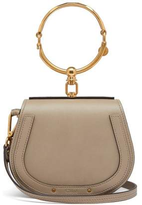 Chloé Nile Small Leather And Suede Cross-body Bag - Womens - Grey