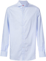 Isaia striped long sleeve shirt - men - Cotton - 15 1/2