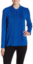 T Tahari Aviana Pintuck Blouse
