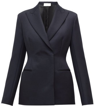 The Row Lanois Double-breasted Peak-lapel Wool Jacket - Navy