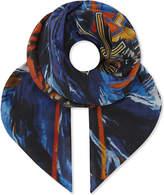 Balmain Tiger cotton and silk-blend bandana