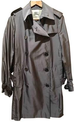 Burberry Metallic Silk Trench Coat for Women