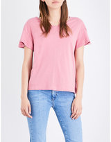 MiH Jeans Veevee cotton and linen-blend T-shirt