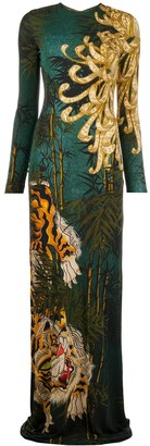 DSQUARED2 Long Tiger Print Dress