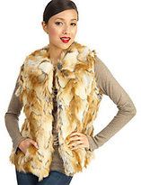 Rachel Zoe Luxe Faux Fur Vest with Hook & Eye Closure