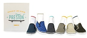 Trumpette Boys' Preston Skater Sneakers Print Socks, Set of 6 - Baby