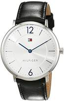 Tommy Hilfiger Mens Quartz Watch, Analogue Classic Display and Leather Strap 1710351