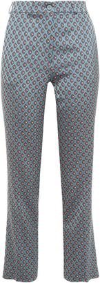 Etro Satin-jacquard Straight-leg Pants
