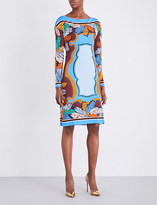 Emilio Pucci Palm leaf-print jersey dress