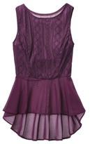 Mossimo Women's Sleeveless Lace Peplum Tank - Assorted Colors