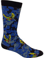 Ozone Men's Sinister Floral Sock (2 Pairs) - Navy Casual Socks