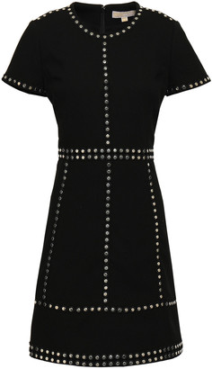 MICHAEL Michael Kors Studded Stretch-crepe Mini Dress