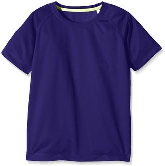 Stedman Apparel Boy's Active 140 Raglan Plain T-Shirt