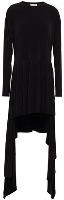 J.W.Anderson Draped Pleated Stretch-jersey Mini Dress