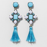 BaubleBar SUGARFIX by String Tassel Drop Earrings with Embellished Top