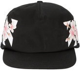 Off-White floral diagonal stripe print cap - women - Cotton - One Size