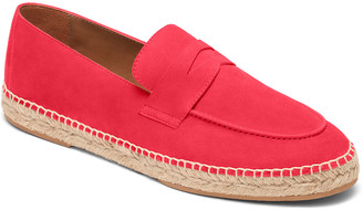 Couture Bougeotte Hibiscus Suede Espadrille Penny Loafers