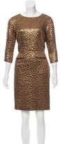Rochas Metallic Wool-Blend Dress