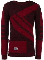 Kokon To Zai striped intarsia jumper