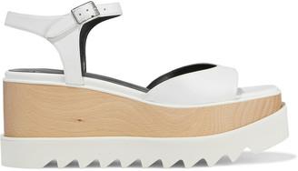 Stella McCartney Elyse Faux Leather Platform Sandals