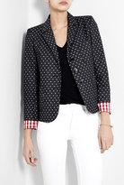 Sonia by Sonia Rykiel Spotted Cotton Blazer