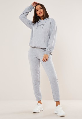 Missguided Grey Pocket Hoodie And Joggers Co Ord Set