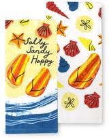 Celebrate Summer Together Salty, Sandy Kitchen Towel 2-pk.