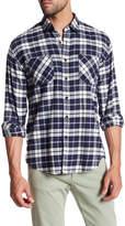 James Campbell Anju Plaid Long Sleeve Regular Fit Shirt