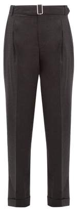 Officine Generale Pierre High-rise Wool Trousers - Womens - Grey