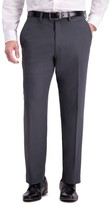 Haggar Men's Travel Performance Tailored Fit Stretch Flat-Front Suit Pants