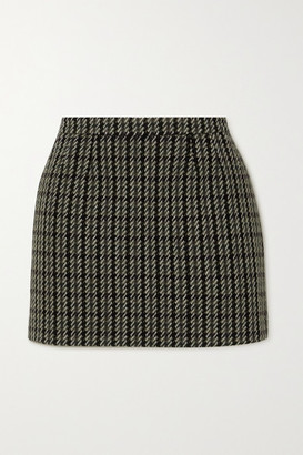 RED Valentino Wool-blend Tweed Mini Skirt - Black