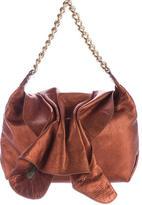 Carlos Falchi Metallic Leather Flap Bag