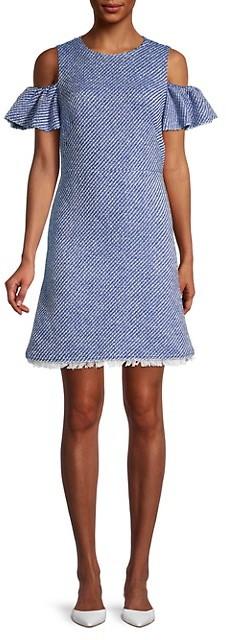 Kate Spade Cotton-Blend Printed A-line Dress