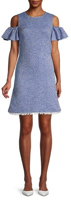 Kate Spade Cotton-Blend Printed A-line Dress