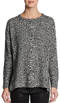 Marled Knit Crewneck Sweater