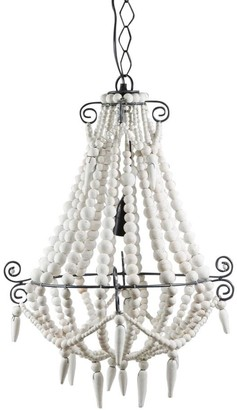 Emac & Lawton Beaded Chandelier Small White