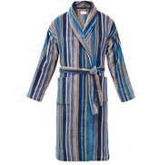 Derek Rose Aston 30 Blue Striped Toweling Robe