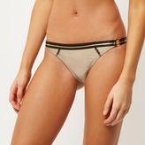 River Island Womens Gold ring side bikini bottoms