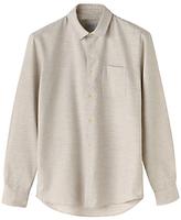 Jigsaw Cotton Horizontal Stripe Slim Fit Shirt, Grey