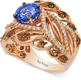 LeVian Le Vian Chocolatier® Tanzanite (1-1/5 ct. t.w.) and Diamond (3/4 ct. t.w.) Ring in 14k Rose Gold, Created for Macy's