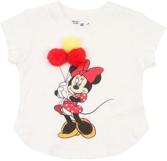 MC2 Saint Barth Minnie Pompom Cotton Jersey T-shirt