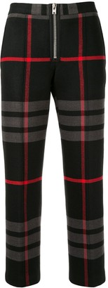 Yang Li Cropped Plaid Print Trousers