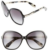 Kate Spade Women's Jolyn 58Mm Sunglasses - Black/ Gold