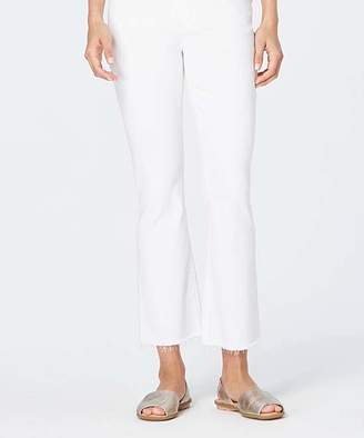 J. Jill J.Jill Women's Denim Pants and Jeans WHITE - White Kick-Flare Ankle Jeans - Women