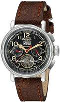 Ingersoll unisex Automatic Watch with Black Dial Analogue Display and Brown Leather Strap IN1827BKCR