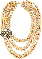 Lydell NYC Two-Tone Multi-Row Statement Necklace