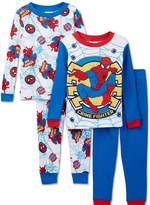 Marvel Boys' Spiderman Crime Fighter 4 Piece Cotton Set