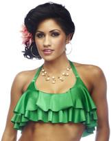 Nicolita Swimwear - Rumba Ruffles Green Crop Top Bikini